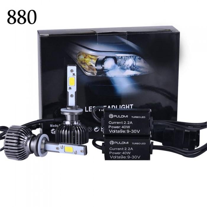 880 881 7200LM 80W CREE LED Lamp Headlight Kit Car Beam Bulbs 6000k White 12V