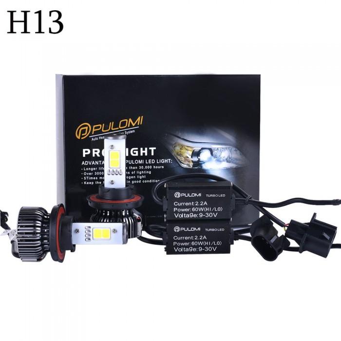 H13 Hi/Lo 120W 7200LM CREE LED Lamp Headlight Kit Car Beam Bulbs 6000k White 12V