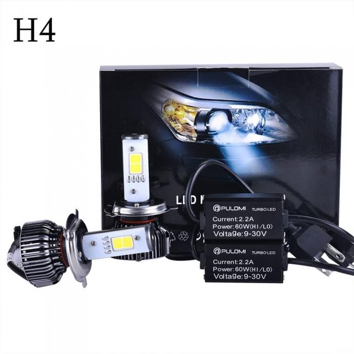 H4 9003 HB2 Hi/Low 7200LM 120W 6000k CREE LED Lamp Headlight Kit Car Beam Bulbs