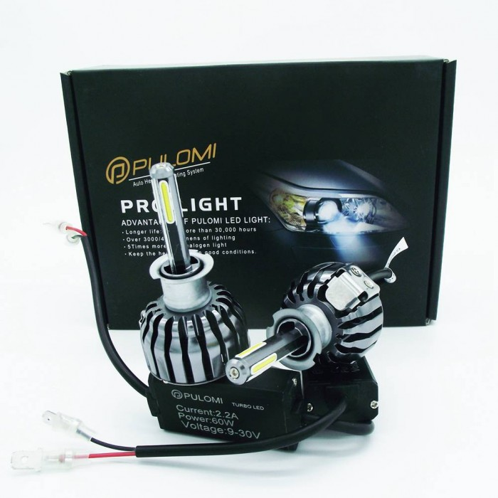 H3 Low Beam 120W 12800lm 4 Sides CREE LED Headlight Kit 6000K Bulbs White Lamps