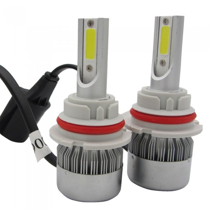 72W 7200lm 2 Sides COB LED Headlight Kits HB1 9004 Hi/Low Beams 6000K Bulbs 12V
