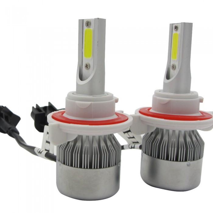 72W 7200lm 2 Sides COB LED Headlight Kits H13 9008 Hi/Low Beam 6000K Bulbs 12V