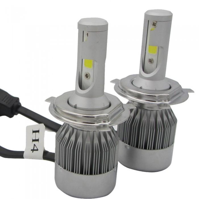 72W 7200lm 2 Sides COB LED Headlight Kits H4 9003 HB2 Hi/Low Beam 6000K Bulb 12V