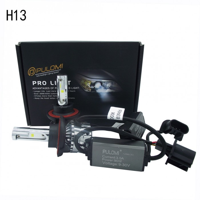 180W 19200lm 2 Sides CSP LED Headlight Kits H13 9008 Hi/Low Beam 6000K Bulbs