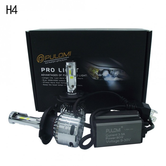 180W 19200lm 2 Side CSP LED Headlight Kits H4 9003 HB2 Hi/Low Beam 6000K Bulb