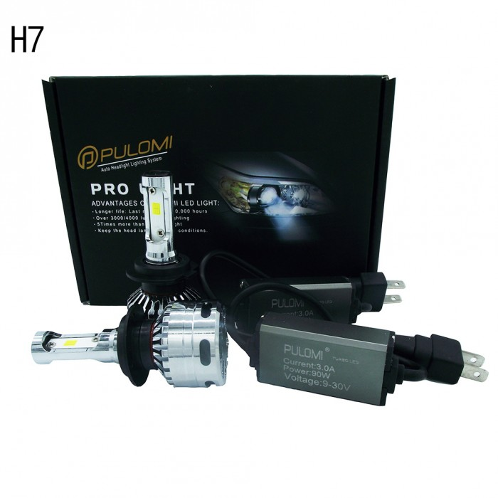 180W 19200lm 2 Sides CSP LED Headlight Kits H7 High Low Beam 6000K Bulbs 12V