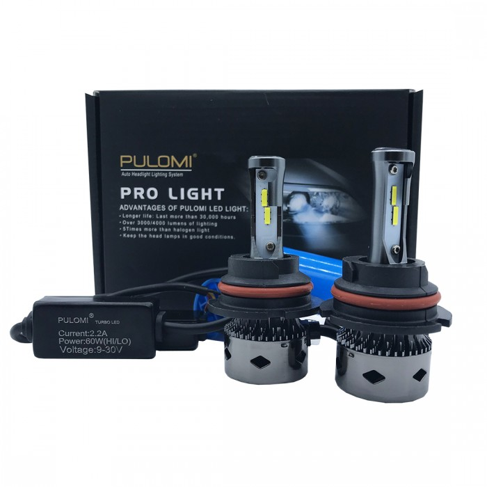 120W 19200lm 2 Sides CSP LED Headlight Kits 9007 HB5 Hi/Low Beam 6000K Bulbs