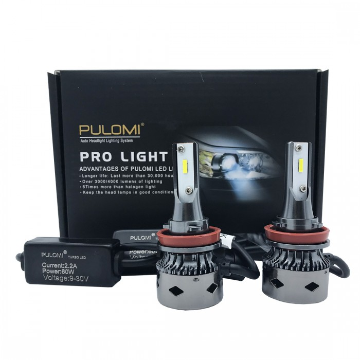 120W 19200lm 2 Sides CSP LED Headlight Kit H8 H9 H11 Low Beam 6000K Bulbs 12V