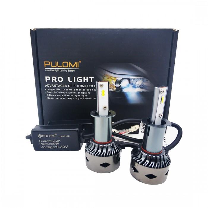 H3 120W 19200lm 2 Sides CSP LED Headlight Kits Low Beam 6000K Bulbs Lamps 12V