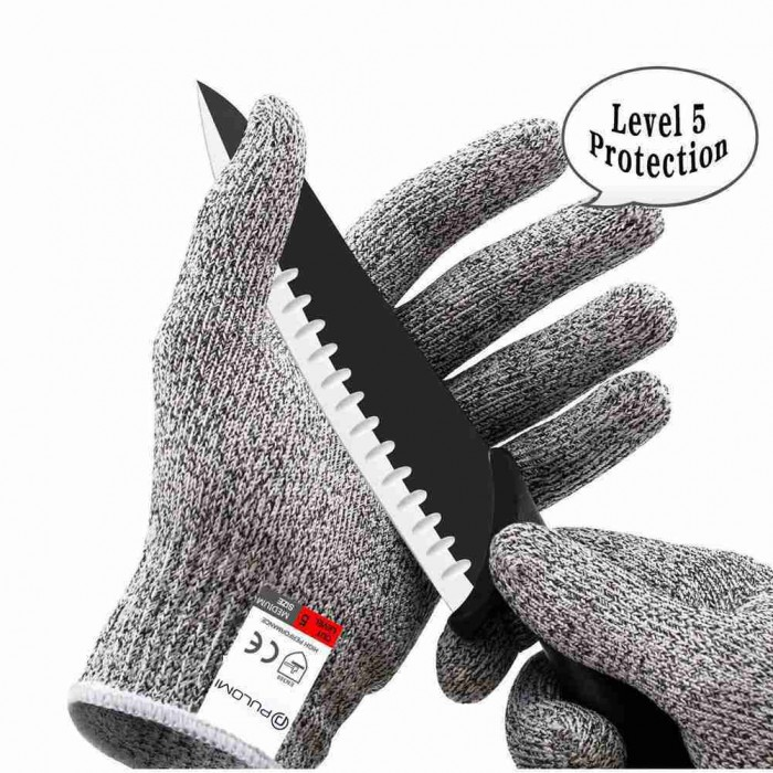 GV01 Cut Resistant Gloves Anti-Cutting Food Grade Level 5 Kitchen Butcher Protection