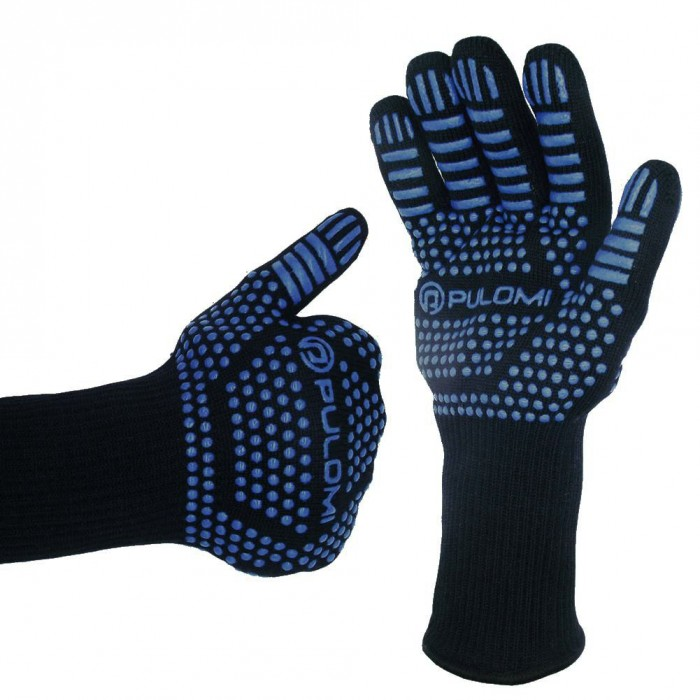 GV02-3 Heat Resistant Silicone Kevlar Mitts Gloves BBQ Grill Microwave Oven Kitchen