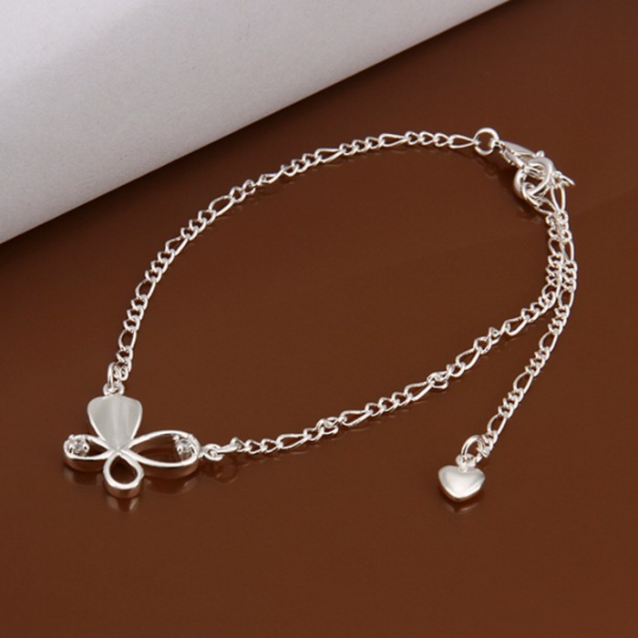 SA021 Fashion Silver Jewelry Crystal Butterfly Foot Chain Anklet Ankle Bracelet