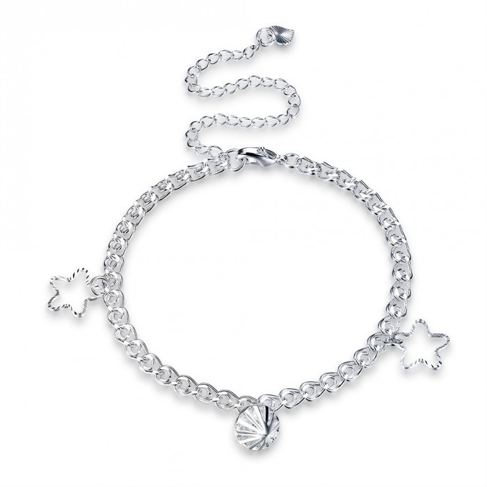 SA066 Fashion Silver Jewelry Charms Foot Chain Anklet Ankle Bracelet