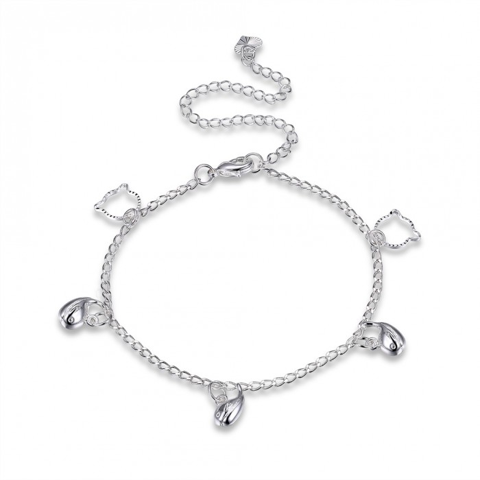 SA070 Fashion Silver Jewelry Charms Foot Chain Anklet Ankle Bracelet