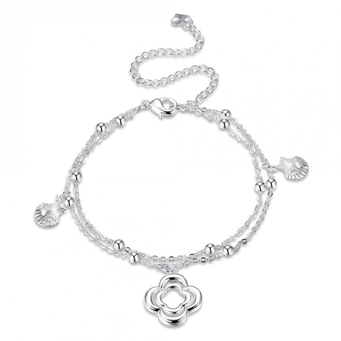 SA076 Fashion Silver Jewelry Charms Foot Chain Anklet Ankle Bracelet