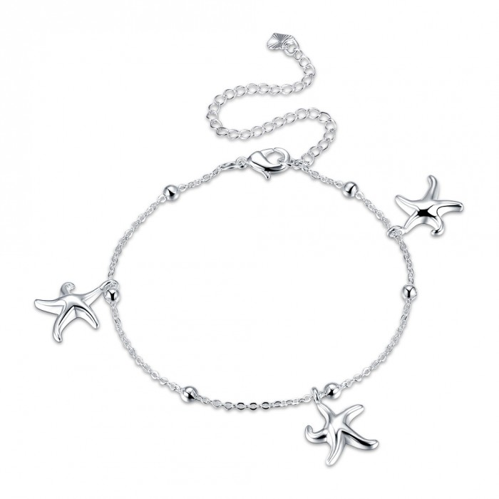 SA078 Fashion Silver Jewelry Charms Foot Chain Anklet Ankle Bracelet