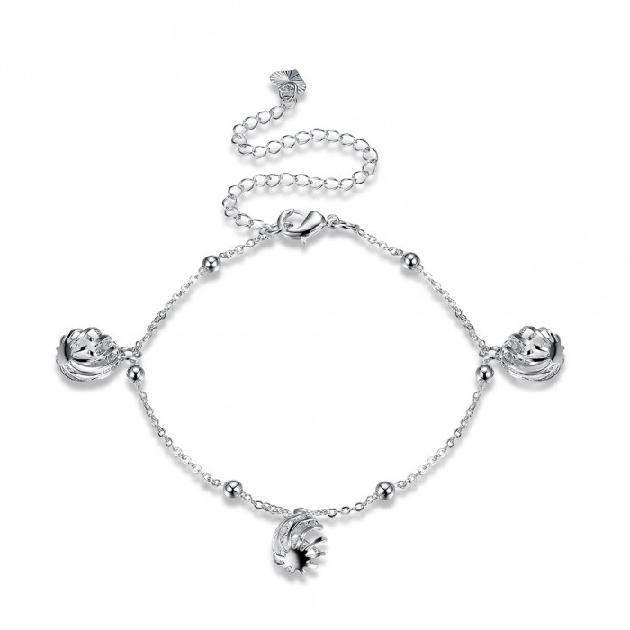 SA083 Fashion Silver Jewelry Charms Foot Chain Anklet Ankle Bracelet