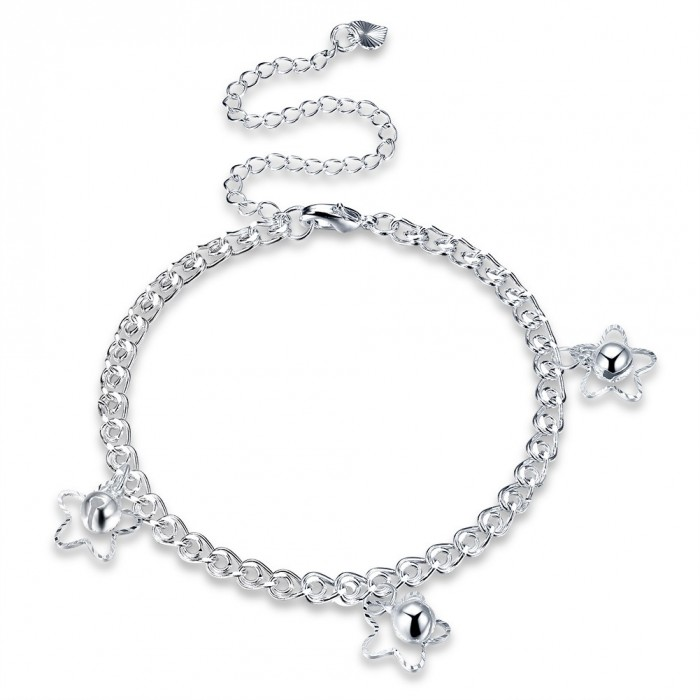 SA103 Fashion Silver Jewelry Charms Foot Chain Anklet Ankle Bracelet