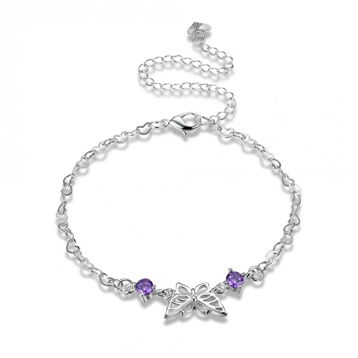 SA105 Fashion Silver Jewelry Charms Foot Chain Anklet Ankle Bracelet