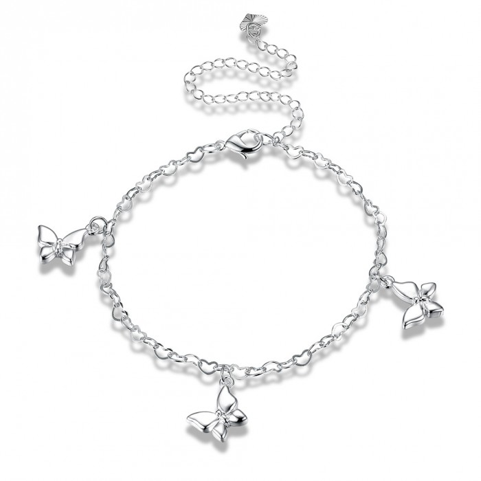 SA108 Fashion Silver Jewelry Charms Foot Chain Anklet Ankle Bracelet