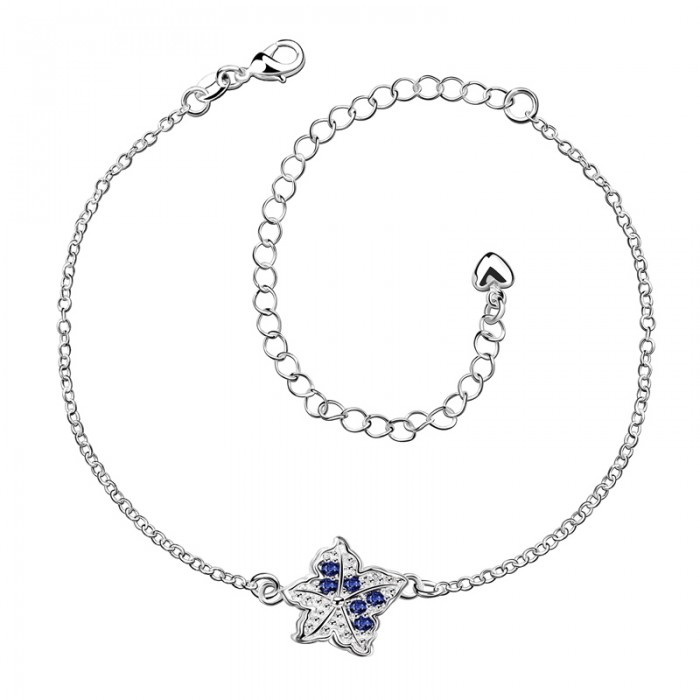 SPA012-A Fashion Silver Jewelry Blue Crystal Star Foot Chain Anklet Ankle Bracelet