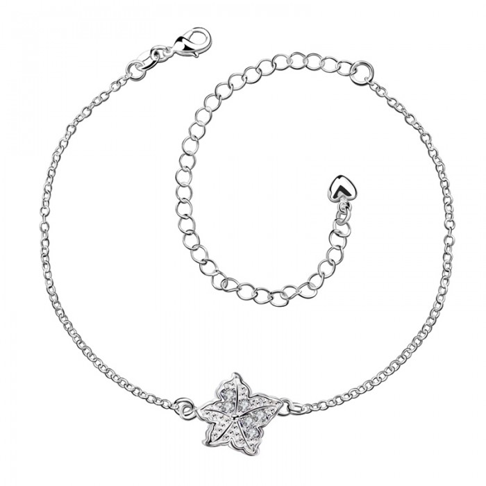 SPA012-C Fashion Silver Jewelry Crystal Star Foot Chain Anklet Ankle Bracelet
