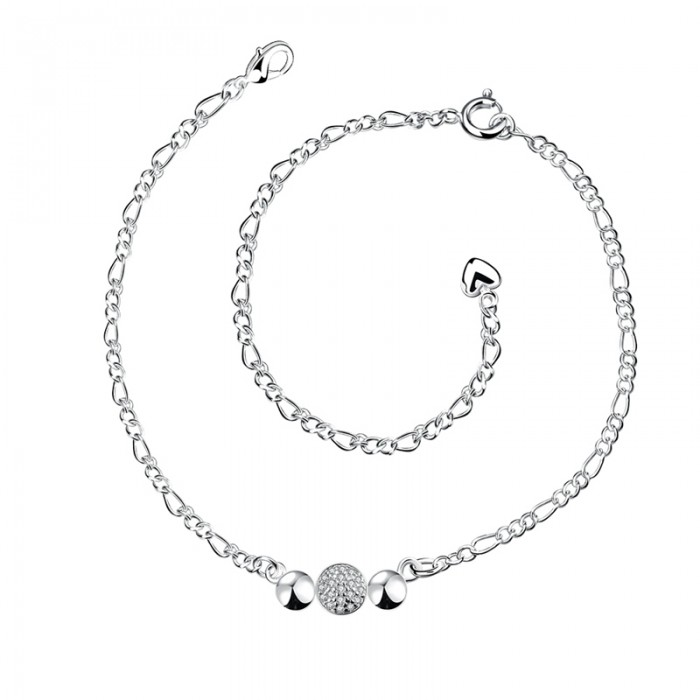 SPA029 Fashion Silver Jewelry Crystal Easy Foot Chain Anklet Ankle Bracelet
