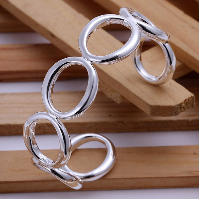 SK013 Fashion Silver Jewelry O Bangles Bracelet