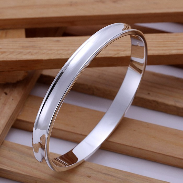SK026 Fashion Silver Men Jewelry Bright Bangles Bracelet