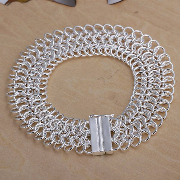SH005 Fashion Silver Jewelry Circel Link Bracelet For Women