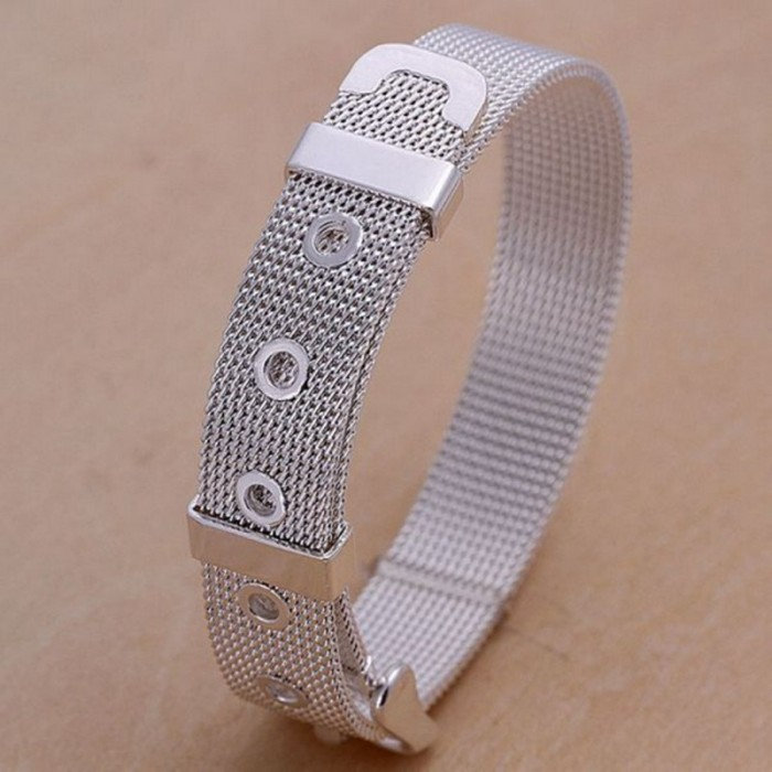 SH006 Fashion Silver Jewelry 14mm Watchband Bracelet For Women