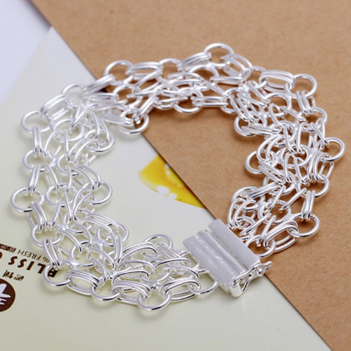 SH013 Fashion Silver Jewelry Circel Link Bracelet For Women