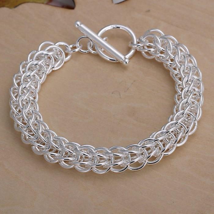 SH016 Fashion Silver Jewelry Circel T-O Bracelet For Women