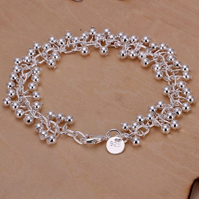 SH017 Fashion Silver Jewelry Bright Grape Bracelet For Women