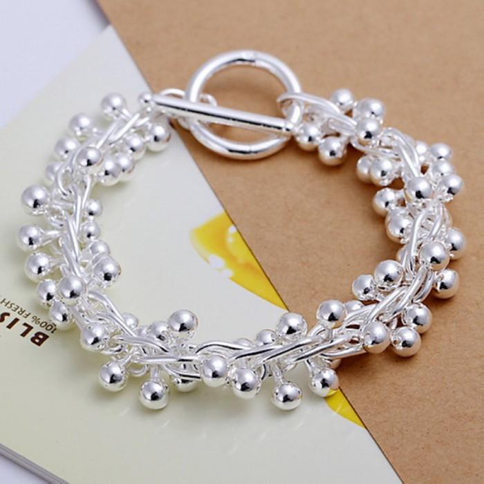 SH019 Fashion Silver Jewelry Grape T-O Bracelet For Women