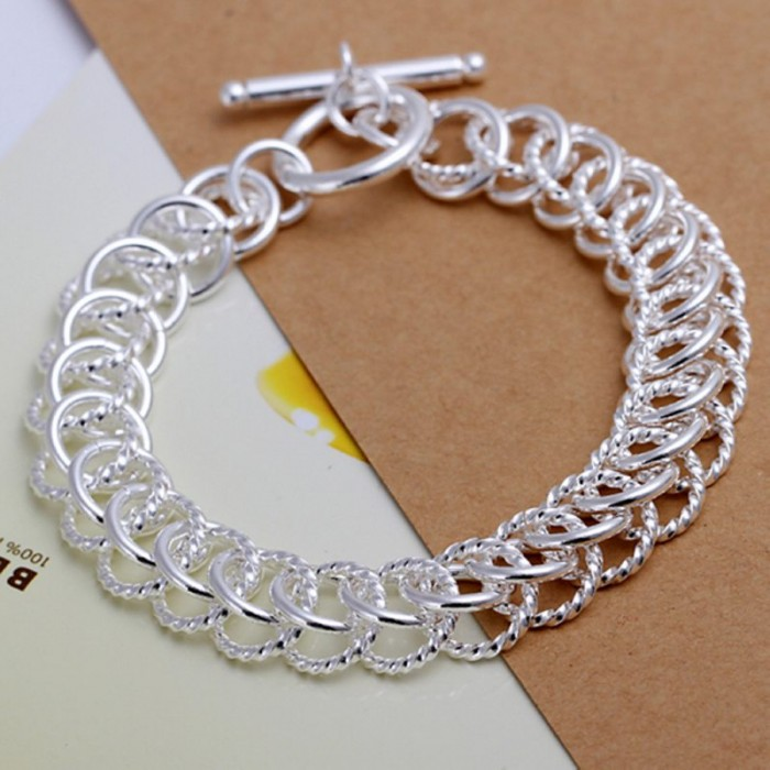 SH022 Fashion Silver Jewelry Circel T-O Bracelet For Women