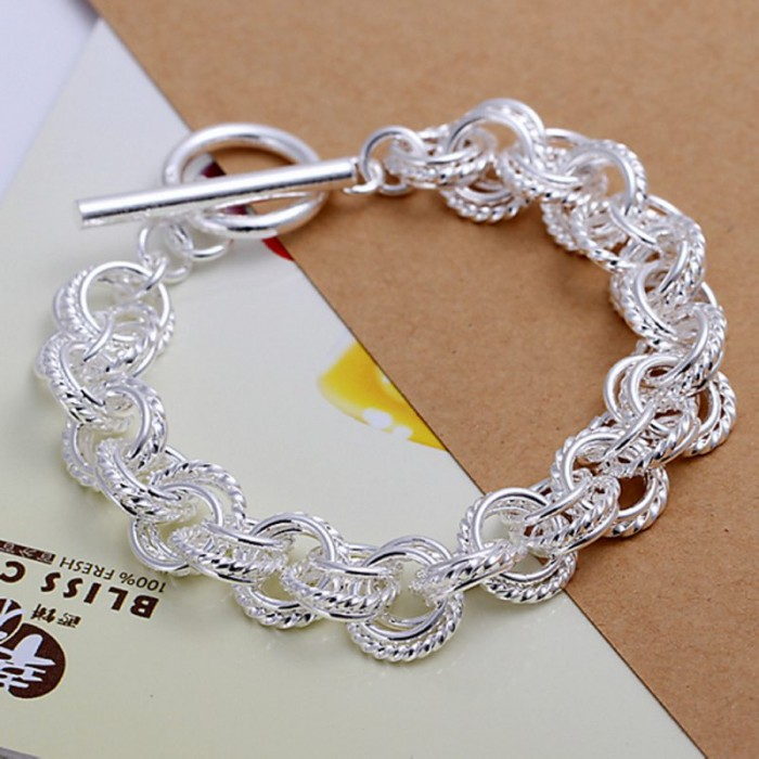 SH023 Fashion Silver Jewelry Circel T-O Bracelet For Women