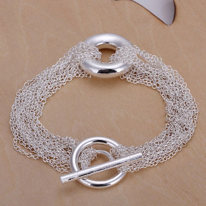 SH029 Fashion Silver Jewelry Chains T-O Bracelet For Women