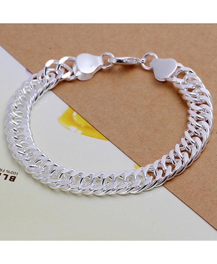SH102 Fashion Silver Men Jewelry 10M Chain Bracelet For Women