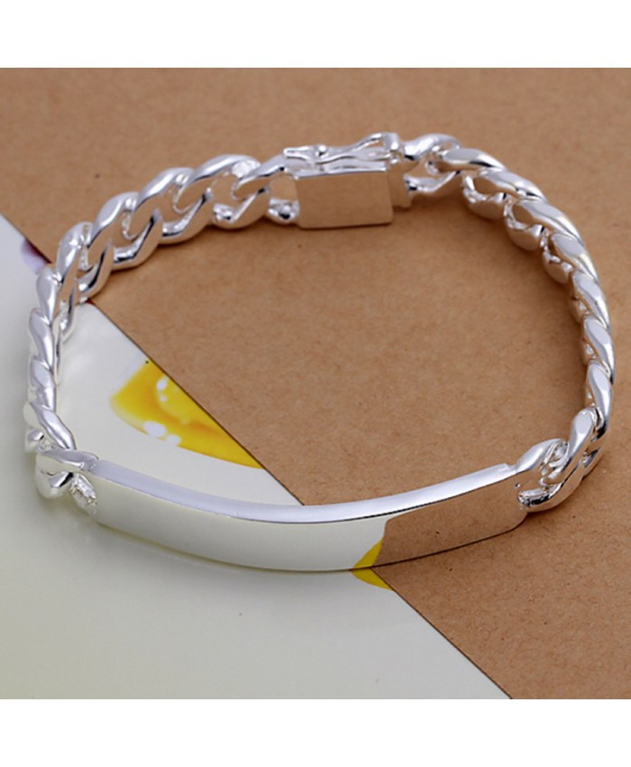 SH181 Fashion Silver Men Jewelry 10MM Chain Bracelet For Women