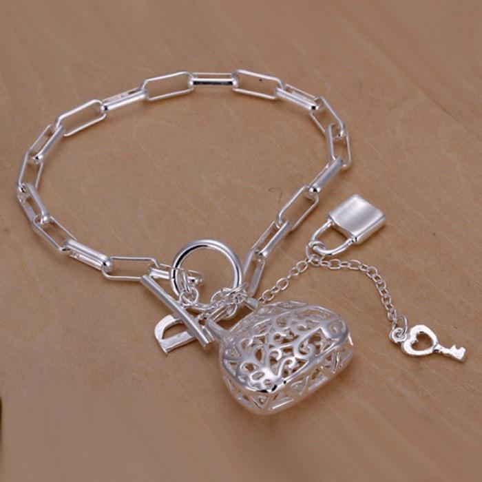 SH206 Fashion Silver Jewelry Bag Key Lock Bracelet For Women