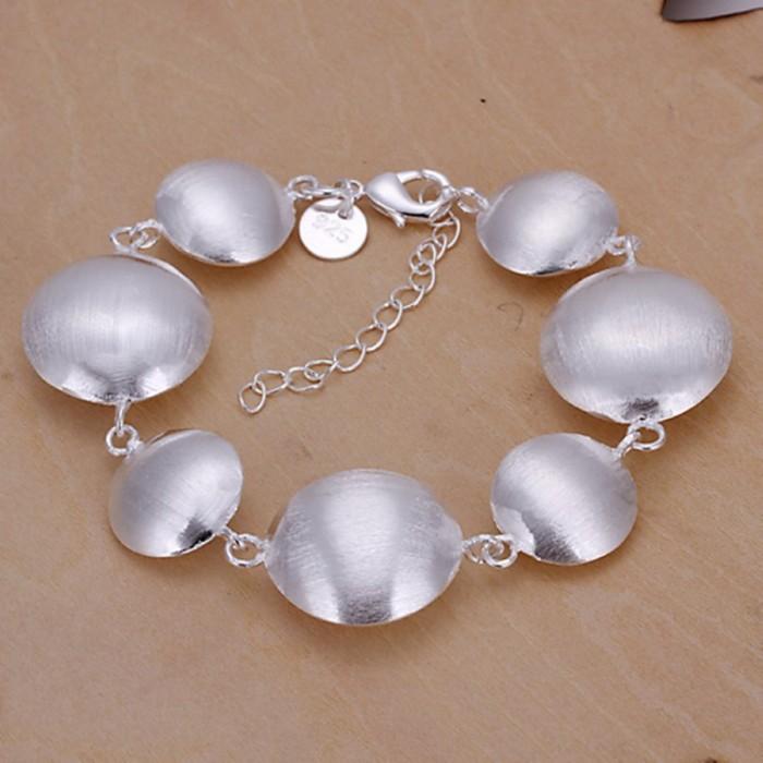 SH208 Fashion Silver Jewelry Bright Round Bracelet For Women