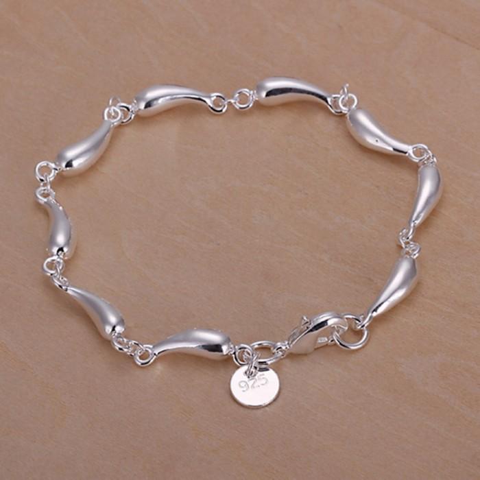SH209 Fashion Silver Jewelry Waterdrop Link Bracelet For Women