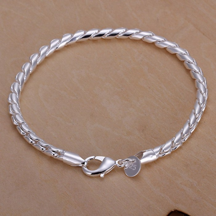 SH210 Fashion Silver Men Jewelry Rope Chain Bracelet For Women