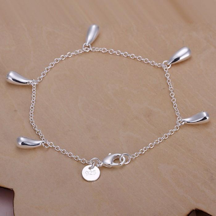 SH218 Hot Silver Jewelry Waterdrop Charms Bracelet For Women