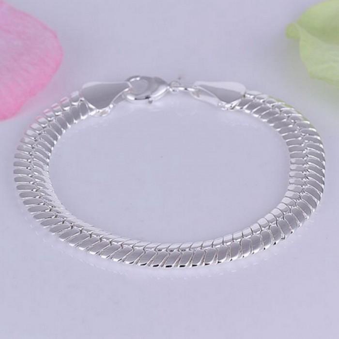 SH231 Fashion Silver Men Jewelry 10MM Chain Bracelet For Women