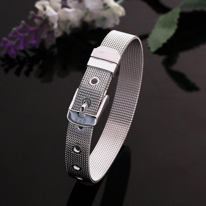 SH237 Hot Silver Jewelry 10mm Watchband Bracelet For Women Men