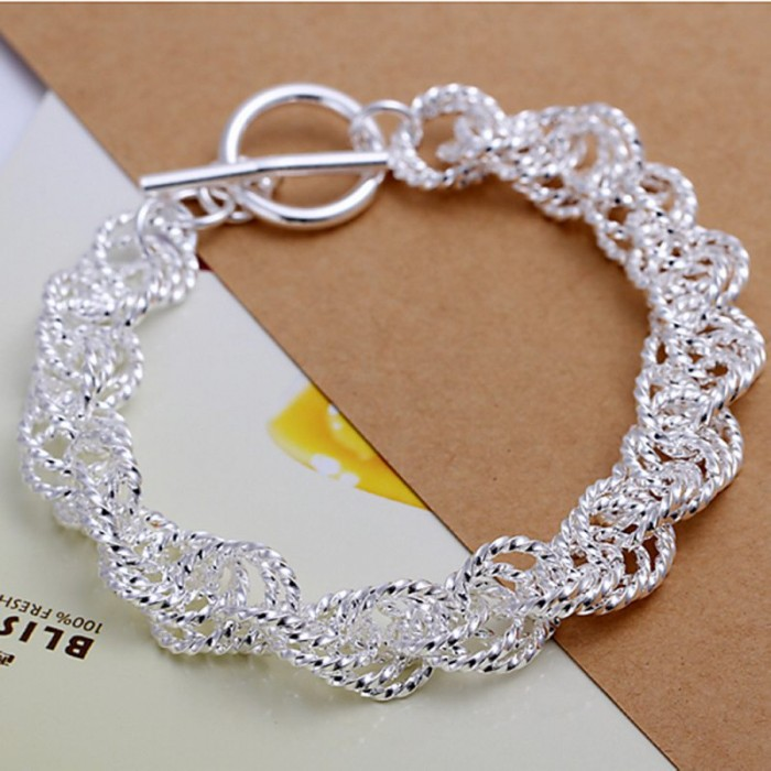 SH240 Fashion Silver Jewelry Bright Circel Bracelet For Women