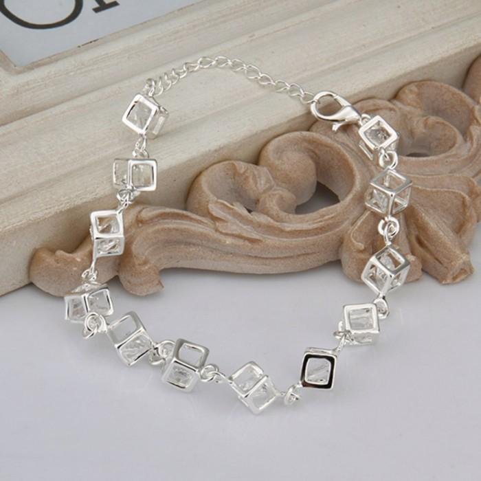 SH241 Fashion Silver Jewelry Crystal Box Bracelet For Women