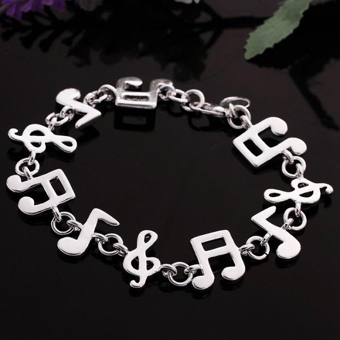 SH242 Fashion Silver Jewelry Music Bracelet For Women